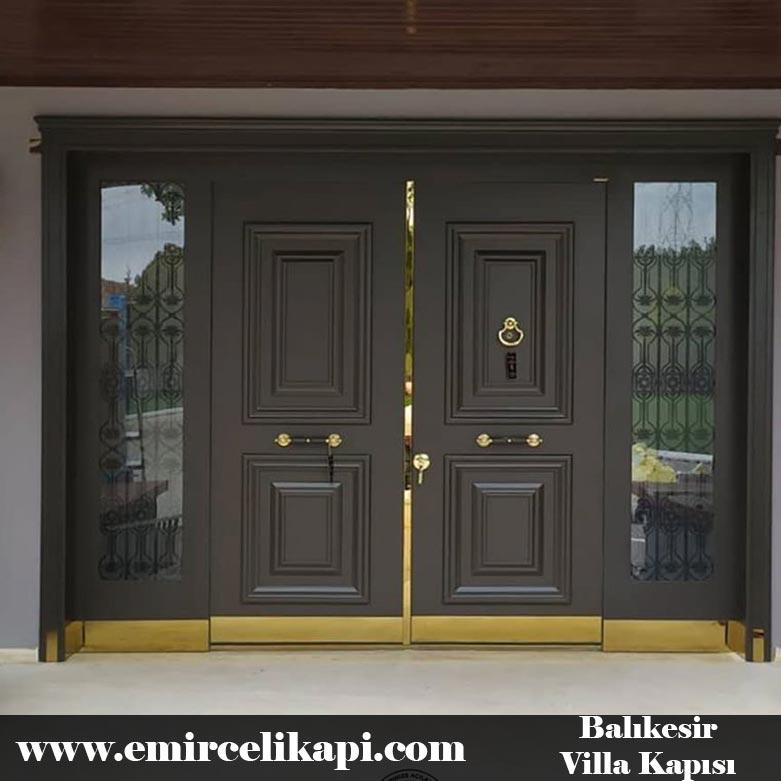 Balıkesir Villa Kapısı 2021 Villa Kapı Modelleri Villa Giriş Kapısı Fiyatları İndirimli Villa Kapısı Kompozit Dış Mekan Çelik Kapı