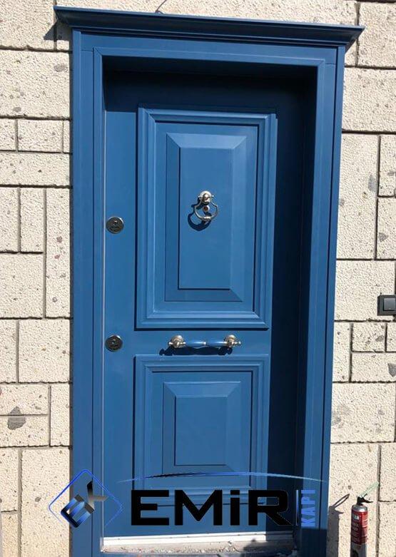 ECK-005 Göktürk Çelik Kapı Mavi Çelik Kapı Özel Üretim Çelik Kapı Modelleri Çelik Kapı Fiyatarı Lüks En İyi Çelik Kapı Markası