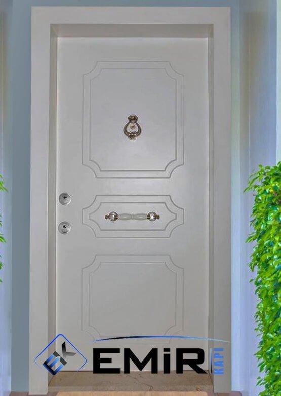 ECK-012 İstanbul Çelik Kapı Beyaz Çelik Kapı Özel Üretim Çelik Kapı Modelleri Çelik Kapı Fiyatarı Lüks En İyi Çelik Kapı Markası