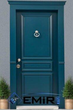 ECK-015 İstanbul Çelik Kapı Mavi Çelik Kapı Özel Üretim Çelik Kapı Modelleri Çelik Kapı Fiyatarı Lüks En İyi Çelik Kapı Markası