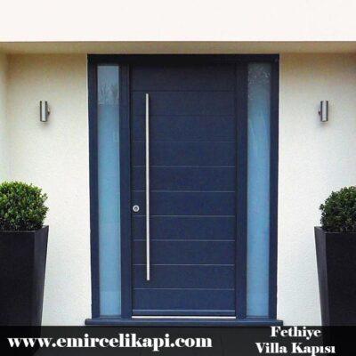 Fethiye Villa Kapısı 2021 Villa Kapı Modelleri Villa Giriş Kapısı Fiyatları İndirimli Villa Kapısı Kompozit Dış Mekan Çelik Kapı