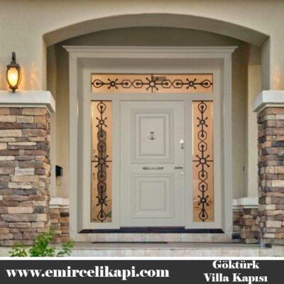 Göktürk Villa Kapısı 2021 Villa Kapı Modelleri Villa Giriş Kapısı Fiyatları İndirimli Villa Kapısı Kompozit Dış Mekan Çelik Kapı
