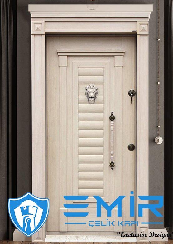 Klasik Lüks Çelik Kapı Modelleri Ahşap Kaplama Kale Merkezi Kilit Modern Çelik Kapı