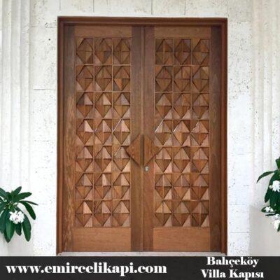 bahçeköy Villa Kapısı 2021 Villa Kapı Modelleri Villa Giriş Kapısı Fiyatları İndirimli Villa Kapısı Kompozit Dış Mekan Çelik Kapı