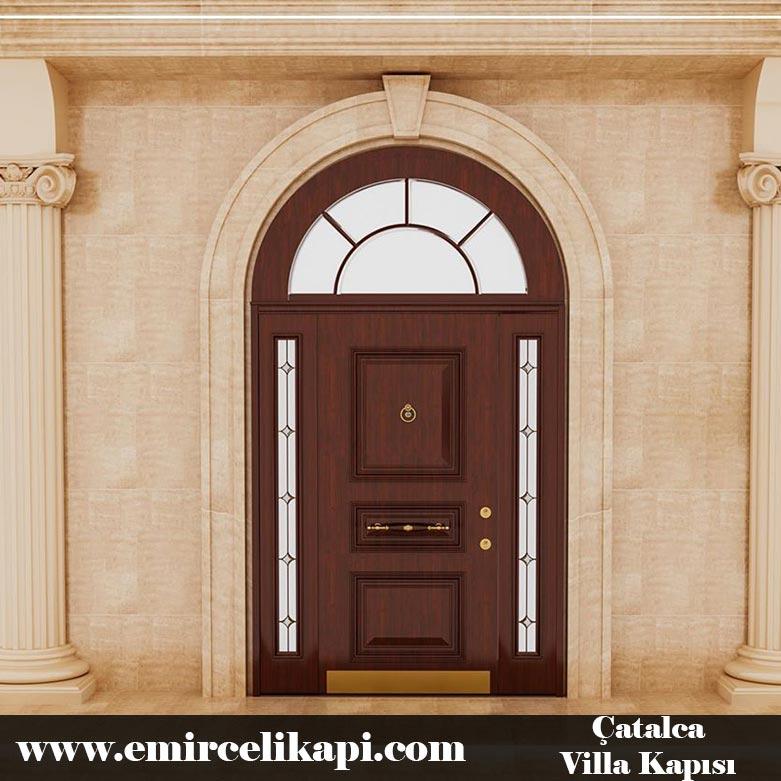 çatalca Villa Kapısı 2021 Villa Kapı Modelleri Villa Giriş Kapısı Fiyatları İndirimli Villa Kapısı Kompozit Dış Mekan Çelik Kapı