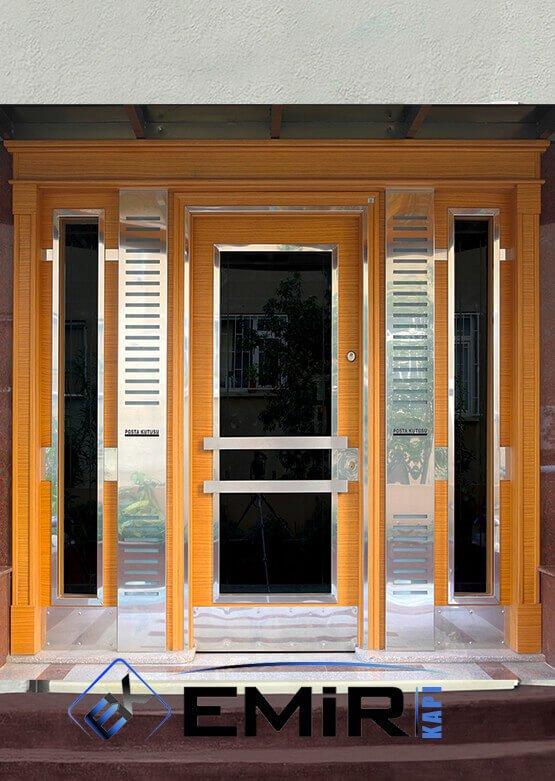 Bayrampaşa Bina Kapısı Apartman Giriş Kapısı Modelleri İndirimli Kompozit Bina Kapısı Çelik Kapı