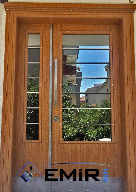 Esenyurt Bina Kapısı Apartman Giriş Kapısı Modelleri İndirimli Kompozit Bina Kapısı Çelik Kapı