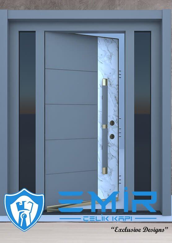 Ferforjeli Villa Giriş Kapısı Villa Kapısı Modelleri Villa Dış Mekan Çelik Kapı Fİyatları Antrasit