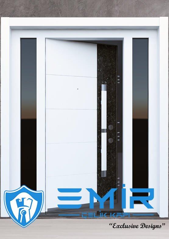 Ferforjeli Villa Giriş Kapısı Villa Kapısı Modelleri Villa Dış Mekan Çelik Kapı Fİyatları Beyaz