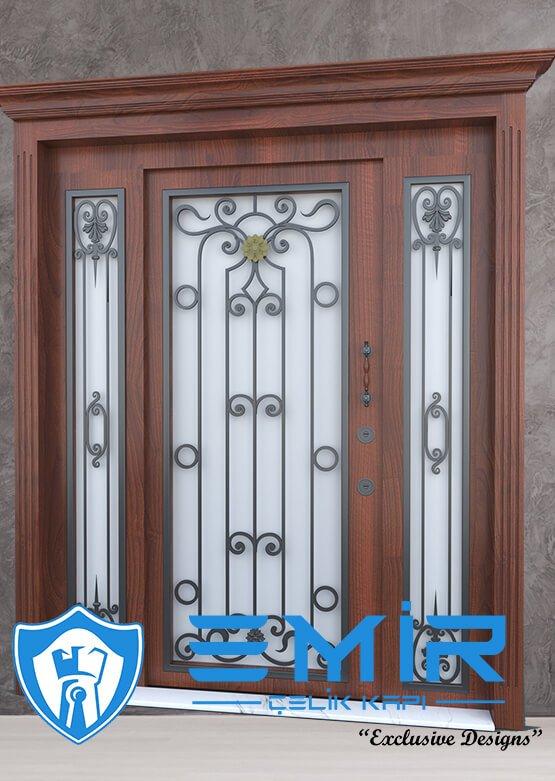 Villa Kapısı İndirimli Villa Giriş Kapıları Kompozit Villa Kapısı Camlı Dış Mekan Çelik Kapı