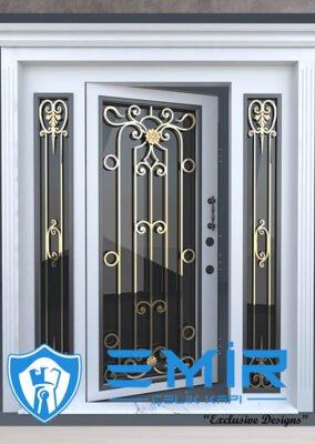 Villa Kapısı İndirimli Villa Giriş Kapıları Kompozit Villa Kapısı Camlı Dış Mekan Çelik Kapı3