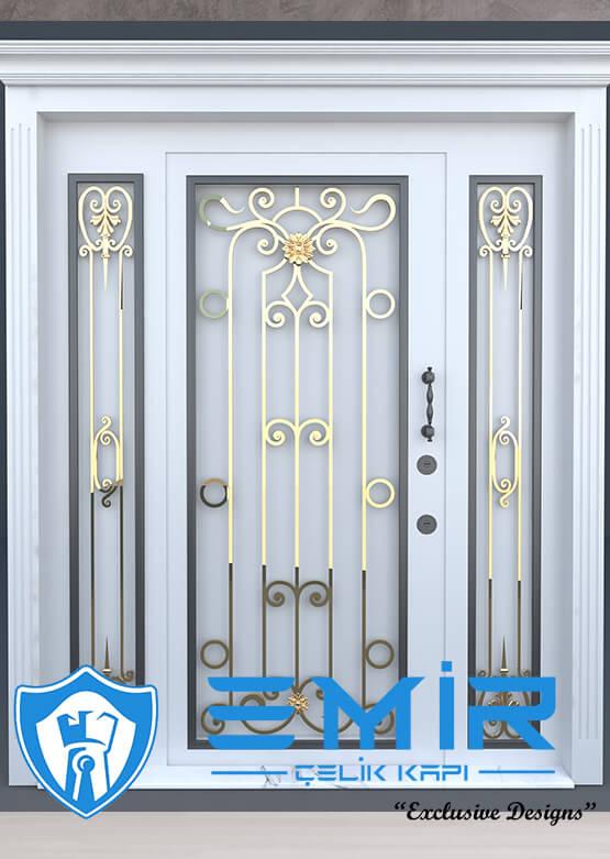 Villa Kapısı İndirimli Villa Giriş Kapıları Kompozit Villa Kapısı Camlı Dış Mekan Çelik Kapı4
