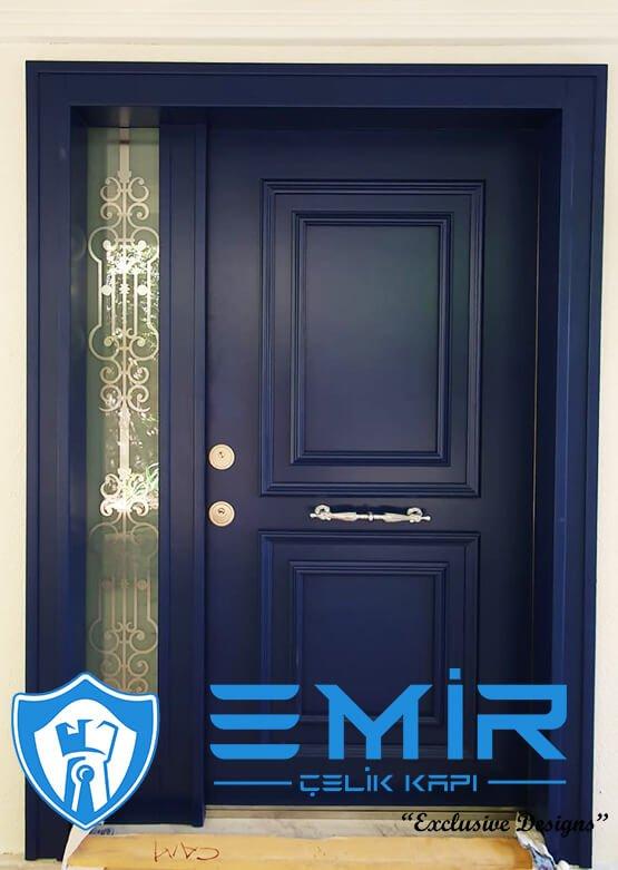 Emir Çelik Kapı Mavi Villa Kapısı İndirimli Villa Giriş Kapısı Modelleri