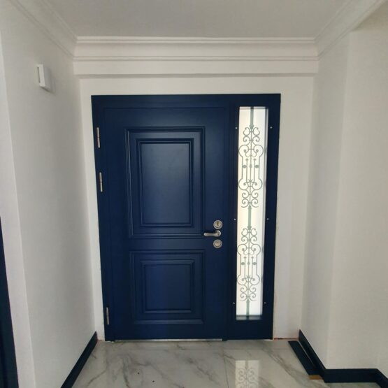 Mavi Villa Kapısı Çelik Kapı Villa Giriş Kapısı
