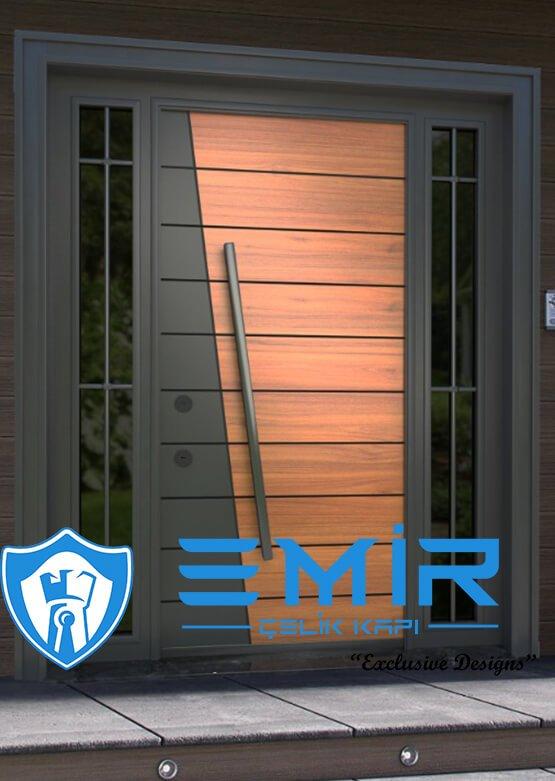 emir çelik kapı villa kapısı yeni sezon kompak villa kapıları kompozit villa giriş kapısı camlı dış kapı modelleri
